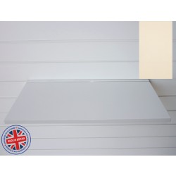 Cream Wood Shelf / Floating Slatwall Shelf - 600mm wide x 400mm deep