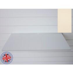 Cream Wood Shelf / Floating Slatwall Shelf - 600mm wide x 400mm deep