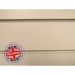 Cream Slatwall Panel 8ft x 4ft (2400mm x 1200mm)