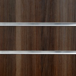 Dark Ash Slatwall Panel 8ft x 4ft (2400mm x 1200mm)