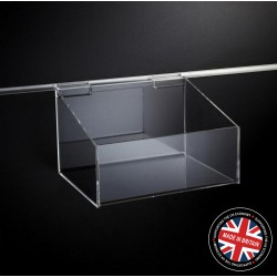 Clear Acrylic Slatwall 250mm Display Bin