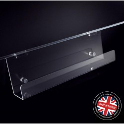 Clear Acrylic Slatwall 600mm Magazine Rack