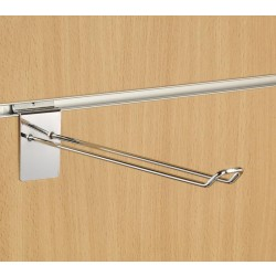 "10"" (250mm) Slatwall Chrome Euro Hook / Prong / Accessory Arm"