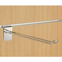 "12"" (300mm) Slatwall Chrome Euro Hook / Prong / Accessory Arm"