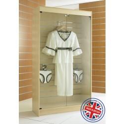 Floor Standing Slatted Slatwall Showcase Cabinet - 6ft (1.8m) high