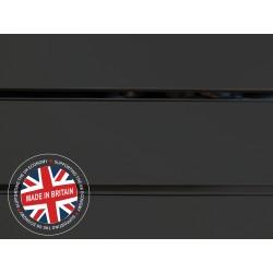 Graphite Grey Slatwall Panel 4ft x 4ft (1200mm x 1200mm)