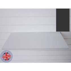 Graphite Grey Wood Shelf / Floating Slatwall Shelf - 600mm wide x 400mm deep
