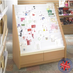 15 Tier Greeting Card Unit with Drawers- 1.2m wide