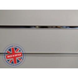 Grey Slatwall Panel 8ft x 4ft (2400mm x 1200mm)