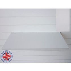 Grey Wood Shelf / Floating Slatwall Shelf - 600mm wide x 400mm deep