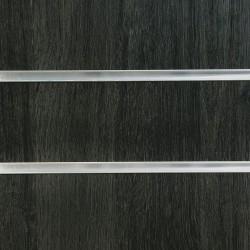 Jet Oak Slatwall Panel 8ft x 4ft (2400mm x 1200mm)