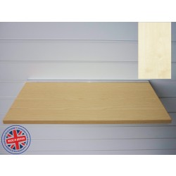 Maple Wood Shelf / Floating Slatwall Shelf - 1200mm wide x 200mm deep