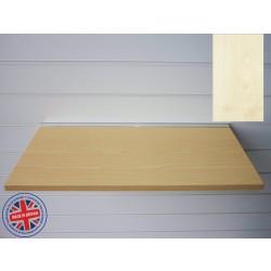 Maple Wood Shelf / Floating Slatwall Shelf - 1200mm wide x 400mm deep
