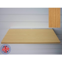 Oak Wood Shelf / Floating Slatwall Shelf - 1200mm wide x 200mm deep