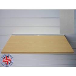 Pewter Wood Shelf / Floating Slatwall Shelf - 1200mm wide x 400mm deep