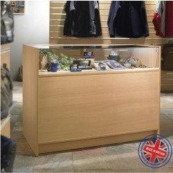 Quarter Vision Glass Shop Counter / Retail Display Counter Cabinet - 4ft (120cm) wide